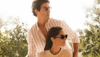Eugenia Silva y Oriol Elcacho, en una imagen de campaña de mó de Multiópticas.