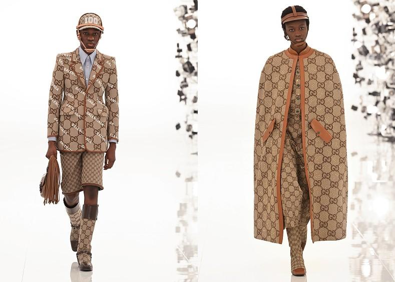 Dos momentos del desfile de la colección Aria de Gucci. Getty Images.