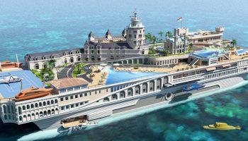 'The streets of Monaco', el megayate de Yacht Island Design