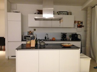 Induction Kitchen - only the top is the fridge on the left - not the whole thing.