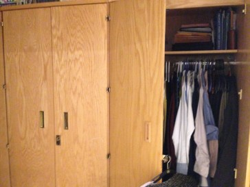 """our """"Issued"""" closets :)"""