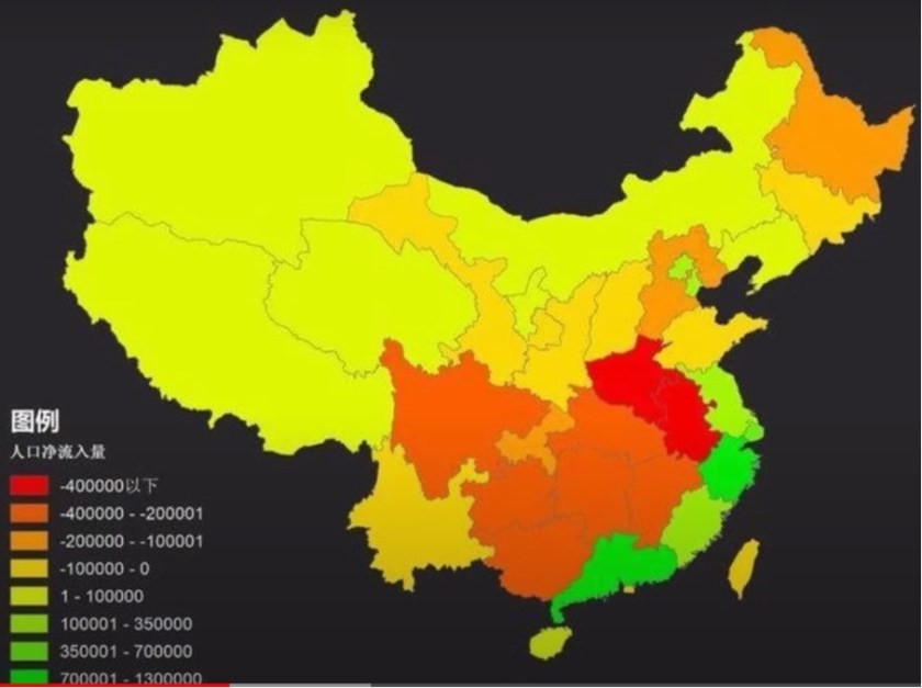 population movement in China