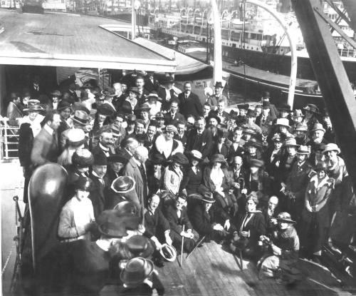 Schoenberg, Alma Mahler, Wellesz in Amsterdam 1920