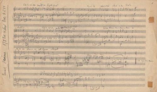 Autograph of Eisler's Über die Dauer des Exils'