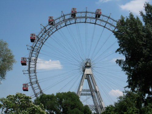 Contemporary photo of Vienna's Riesenrad