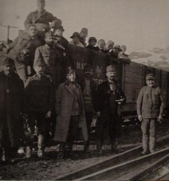 Hans Gál serving in the Balkans during World War I