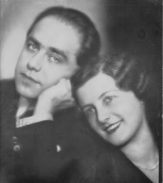 Wedding Photo of Erich and Trude Zeisl 1935