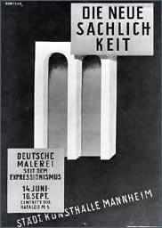 Poster for Mannheim Exhibition 'Neue Sachlichkeit' 1925