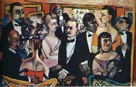 Beckmann: 'Party in Paris' 1931
