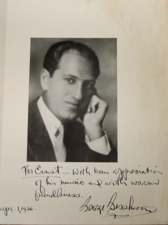 'In friendship' George Gershwin to Ernst Toch