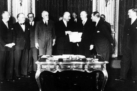 April 18, 1951: The agreement for Coal and Steel that was the start of today's EU. How ironic that the French negotiator was named Robert Schumann