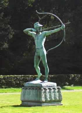 Apollo the Archer in the gardens of Sanssouci