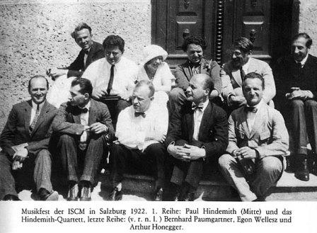 Photo of original 1922 Festival of Contemporary Music in Salzburg