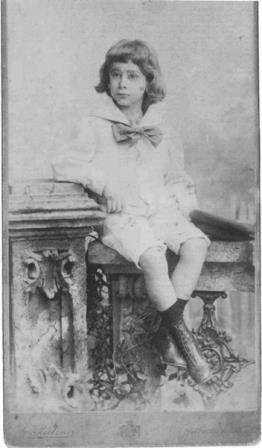 Egon Wellesz as a small boy