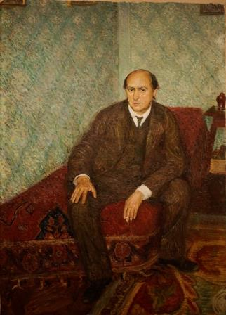 Richard Gerstel's portait of Arnold Schoenberg 1907