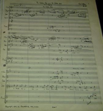 Manuscript of 'The Golden and Leaden Echo'