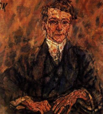 Egon Wellesz as painted by Oskar Kokoschka 1911