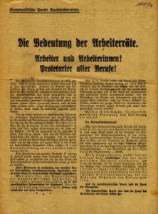 early leaflet from Austria's Communist Party