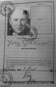 Page from Schreker's passprt 1933