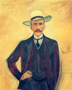 Edvard Munch's portrait of Count Harry Kessler - in my opinion, the more likely model for Musil's Graf Arnheim