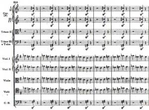Automatic weapon fire from Shostakovich's 8th Symphony