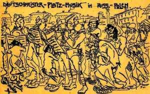 Anti-Semitic postcard placing Jews next to German music
