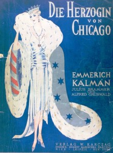Kálmán's 'The Duchess of Chicago' - original score cover