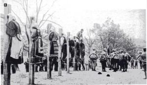 The execution of Serbian women by Austro-Hungarian troops