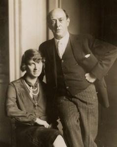 Arnold Schoenberg with wife Gertude née Kolisch, still in Europe