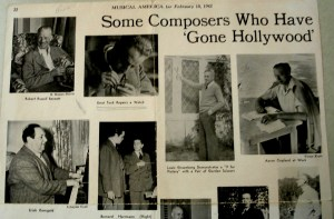 Portion of Story on Hollywood Composers in Music America 1942