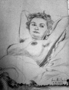 Heidi Ehrengut as sketched by Hans Winterberg