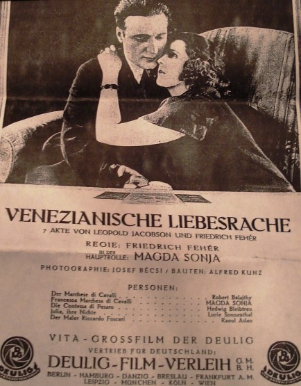 'Venician Language of Love' one of Lucie Sonnenthal's early film roles
