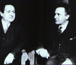 Bruno Walter with Korngold during the General Rehearsal in Berlin, 1928