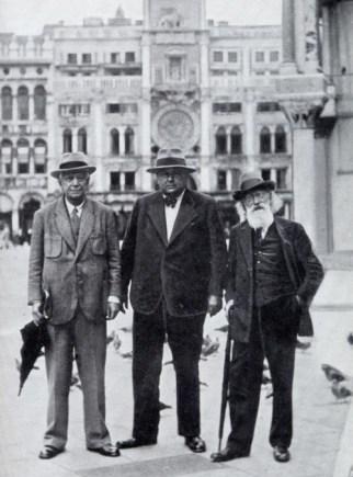 Emil von Reznicek, Joseph Marx and Wilhelm Kienzl, 1934 in Venice