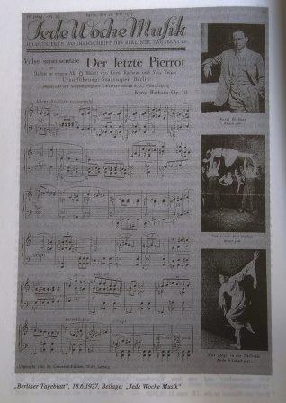 Advertisement for 'Der Letzte Pierrot'