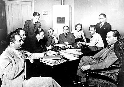 The Executive Committee of the Jüdische Kulturbund (Jewish Cultural League) meets in July 1939.