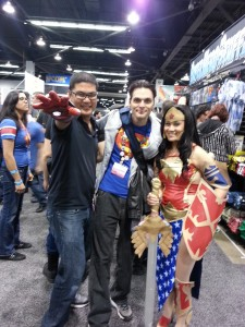 Cosplayers with Forbidden Panel's Martin Bright at WonderCon 2013