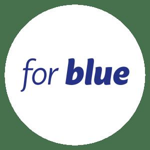 For Blue logo #forblue