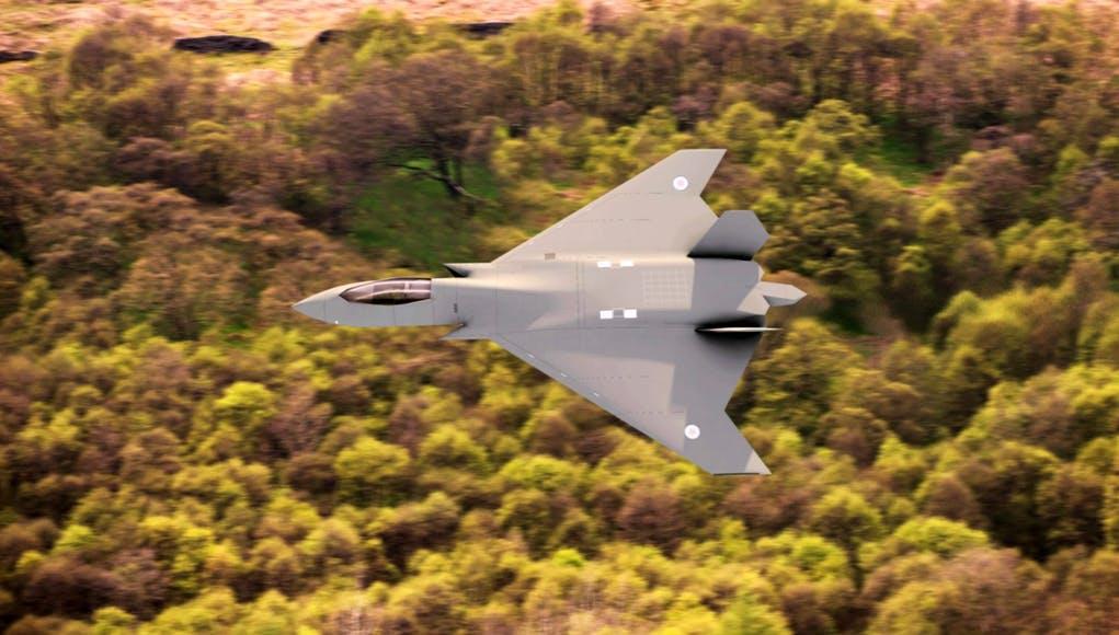 O MoD UK confirma que FCAS não terá uma versão naval. O FCAS ou Tempest com será designado na RAF ,terá apenas a versão baseada em terra (Imagem CG via BAE).