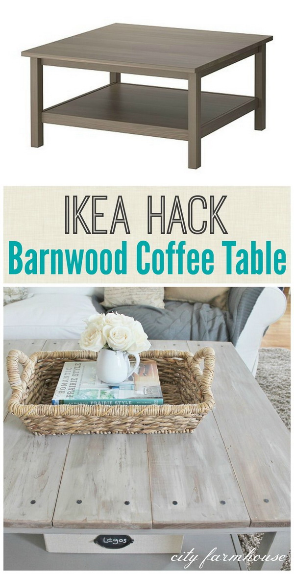 Ikea Hacked Barnboard Coffee Table: