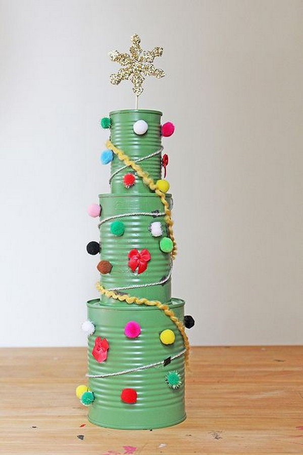 Tin Can Christmas Tree.