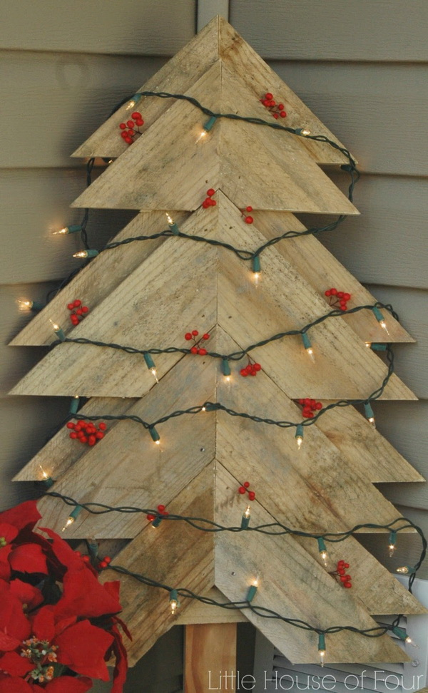 Large Rustic Pallet Christmas Tree.