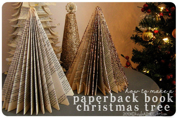 Old Book Pages Christmas Tree.
