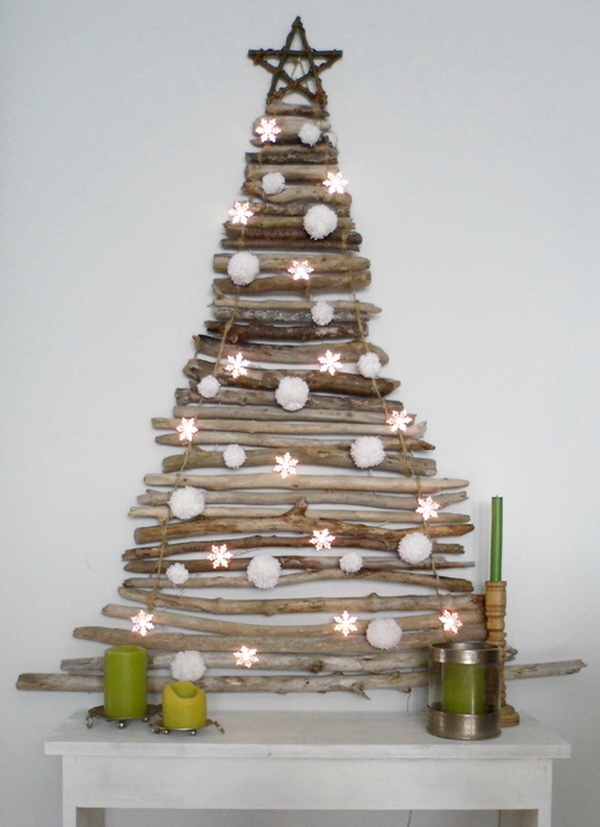 Stacked Twig Christmas Tree.