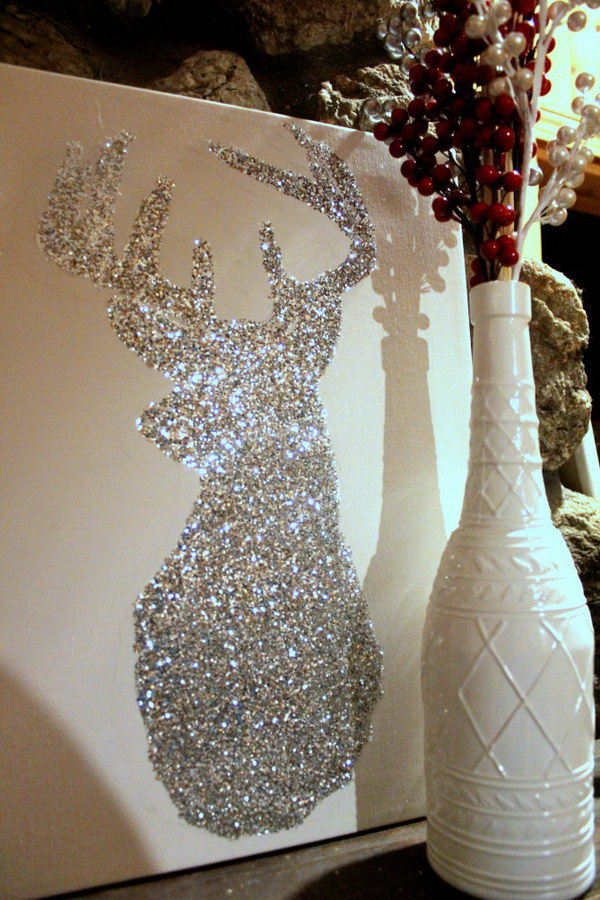 diy bright sparkly reindeer for christmas decor - Christmas Decoration Ideas Diy