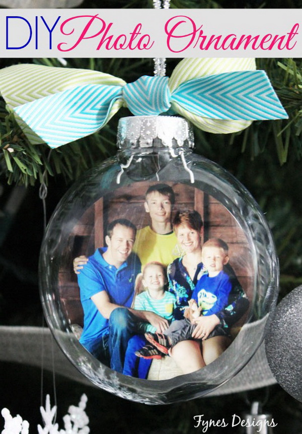 DIY Glass Photo Ornament :
