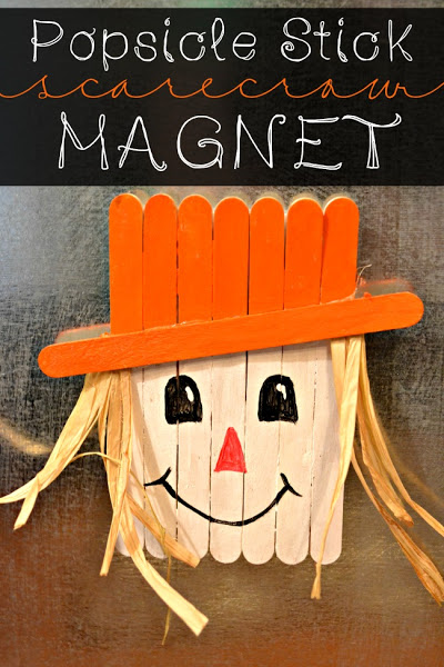 Popsicle Stick Scarecrow Magnet.