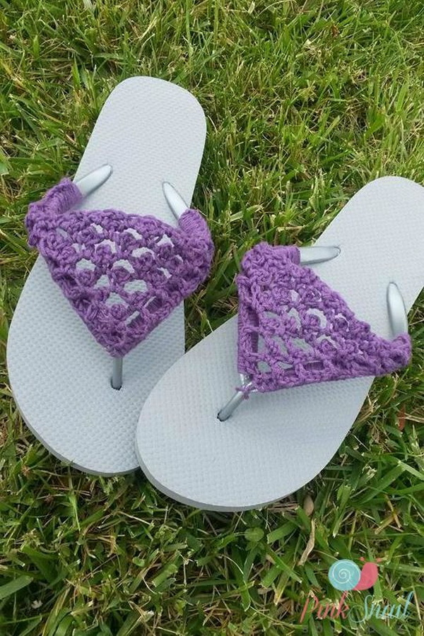 Crochet Flip Flop Cover Pattern.