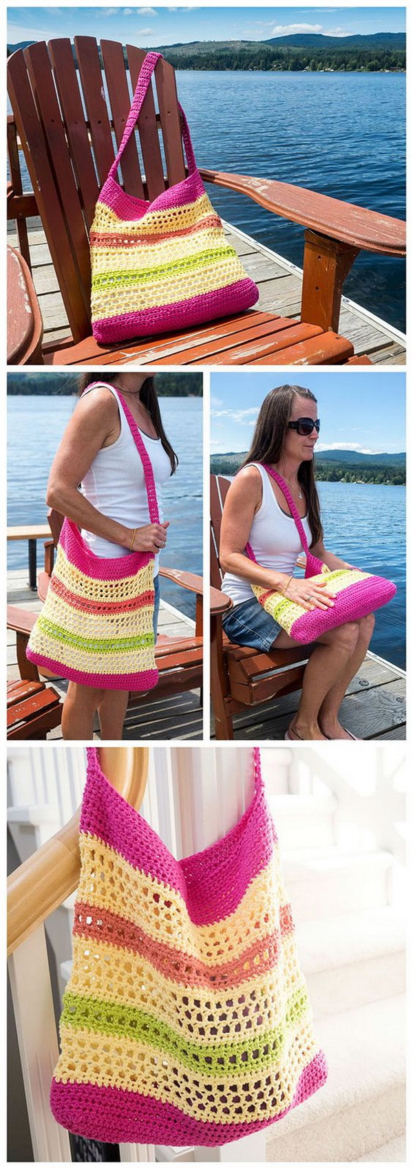 Crochet Beach Tote Bag Pattern.