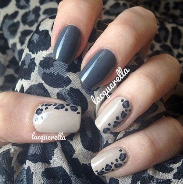 50 stylish leopard and cheetah nail designs for creative juice dark gray animal prints nail art design prinsesfo Choice Image